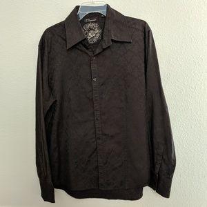 7 Diamonds Shirt Embossed Long Sleeve Button Up